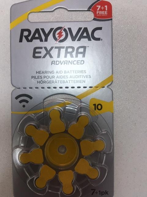 Батарейки для слухових апаратів № 10, блістер  8 штук. Ціна 120 грн