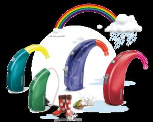 Барви дитячих слухових апаратів Sky