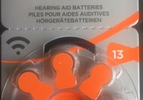 Батарейки для слуховых аппаратов AZ13